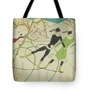 Figure Skating  Christmas Card Tote Bag by American School