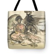 Figure Study Two Women Seated Tote Bag