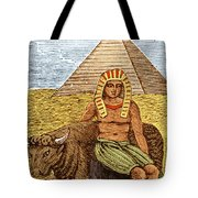 Figure Symbolizing Egyptian Tote Bag by Getty Research Institute