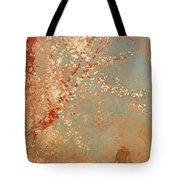 Figure Under A Blossoming Tree Tote Bag
