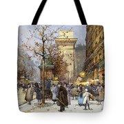 Figures On Le Boulevard St. Denis At Twilight Tote Bag