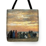 Figures On The Beach In Trouville Tote Bag