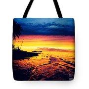 Fiji Paradise Sunset Tote Bag