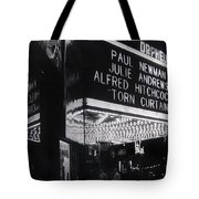Film Homage Alfred Hitchcock Torn Curtain 1966 Orpheum Theater St. Paul Minnesota 1966 Tote Bag