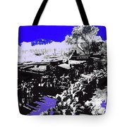 Film Homage Arizona 1940 Publicity Photo Cattle Drive Main Street Old Tucson 1940-2008 Color Added Tote Bag