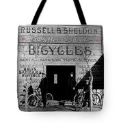 Film Homage Butch Cassidy 1969 Russell And Sheldon Bicycles C.1895 Tucson Arizona 2008 Tote Bag