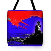 Film Homage Cary Grant Biplane Collage Publicity Photo North By Northwest 1959-2012 Tote Bag