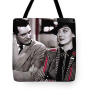 Film Homage Cary Grant Rosalind Russell Howard Hawks His Girl Friday 1940-2008 Tote Bag
