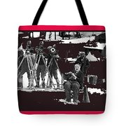 Film Homage Charles Chaplin The Gold Rush 1925 Camera Crew Collage 2010 Tote Bag