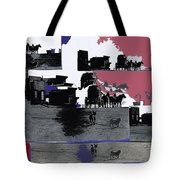 Film Homage Dirty Dingus Magee Collage Number 2 1970-2012 Mescal Arizona Tote Bag