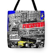 Film Homage Embassy Newsreel Theater 1940 Times Square New York City 2008 Tote Bag