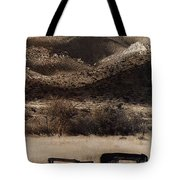 Film Homage End Of The Road 1970 Bisected Car Ghost Town Dos Cabezos Arizona 1967-2008 Tote Bag