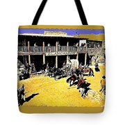 Film Homage Extras Unknown Production Old Tucson Arizona Color Added Tote Bag