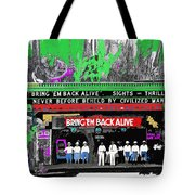 Film Homage Frank Buck Bring 'em Back Alive 1932 Collage Fox Tucson  Arizona 1932-2011 Tote Bag