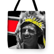 Film Homage Jean-paul Belmondo  Fake Indian Bonnet Love Is A Funny Thing  Old Tucson Az 1969-2008 Tote Bag