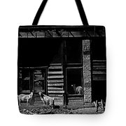 Film Homage King Vidor   Billy The Kid 1930 Wild Goats Ghost Town Billy The Kid Haunt White Oaks Nm  Tote Bag