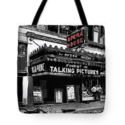 Film Homage Opera House Tucson Arizona Circa 1929-2012 Tote Bag