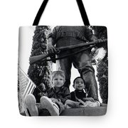Film Homage Tearing Down The Spanish Flag 1898 Veteran's Day Parade 1984 Armory Park Tucson Tote Bag