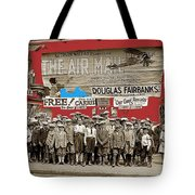 Film Homage The Air Mail  Leader Theater Washington D.c. 1925-2010 Tote Bag