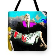 Film Homage Tor Johnson Ed Wood Plan Nine From Outer Space 1959 Publicity Photo Color Added 2012 Tote Bag