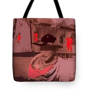 Film Homage William S. Hart Hell's Hinges Collage  1916-2012  Tote Bag