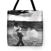 Film Noir Born To Kill 1947 2 Mike Bowan Fast Draw Artist Tucson Arizona 1974 Black And White Tote Bag
