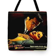 Film Noir Gerd Oswald Robert Wagner A Kiss Before Dying 1956 Poster Color Toning Added 2008 Tote Bag