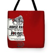Film Noir Jim Thompson The Grifters 1990 1 Horse Dog Tracks Sign Juarez 1977 Tote Bag