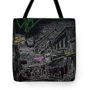 Film Noir Lee Marvin Sylvia Sidney Violent Saturday 1956  C.1885 Bisbee Az Drawing Color Added 2008 Tote Bag
