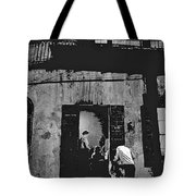 Film Noir Richard Widmark Panic In The Streets 1950 New Orleans Publicity Photo Black And White Tote Bag