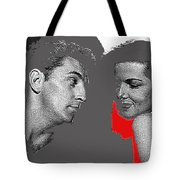 Film Noir Robert Mitchum Jane Russell His Kind Of Woman 1951 Rko Color Added 2012 Tote Bag