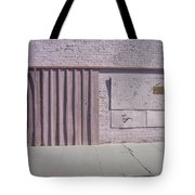 Film Noir Sean Young Kevin Kostner No Way Out 1987 Boarded Wall Eloy Arizona 2004 Tote Bag