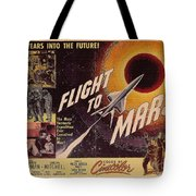 Film Poster Flight To Mars Tote Bag