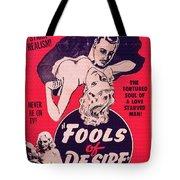 Film Poster Fools Of Desire 1930s Tote Bag