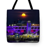 Final Moon Over The Pier Tote Bag