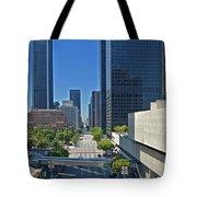 Financial District S. Flower Street Los Angeles Ca Tote Bag by David Zanzinger