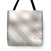 Financial Spreadsheet Tote Bag