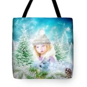 Finding Santa Tote Bag by Mo T