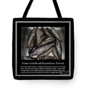 Fine Catch Of Rainbow Trout Tote Bag by Barbara Griffin