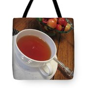Fine Tea And Cherries Tote Bag