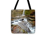 Finger Lakes Waterfall Tote Bag