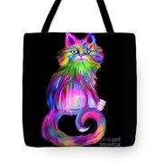 Finger Painted Cat Tote Bag