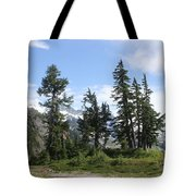 Fir Trees At Mount Baker Tote Bag