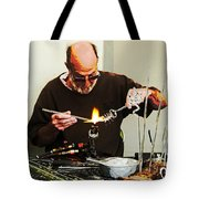 Fire And Glass Tote Bag