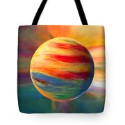 Fire And Ice Ball  Tote Bag