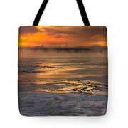 Fire And Ice Cropped Tote Bag