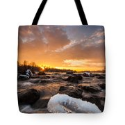 Fire And Ice Tote Bag by Davorin Mance