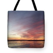 Fire And Ice Fishing Tote Bag