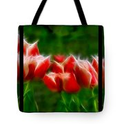 Fire And Ice Fractal Triptych Tote Bag