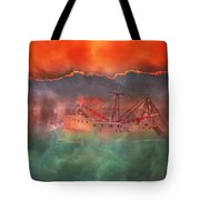 Fire And Ice Misty Morning Tote Bag